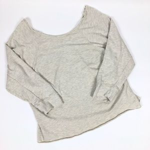 Free People Oversized Off the Shoulder Sweatshirt